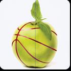 Apple that looks like a basketball