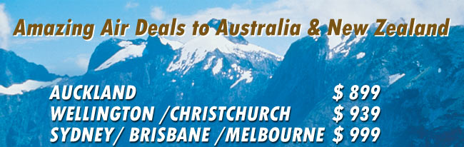 Great Air Fares To Australia and New Zealand  from Goway
