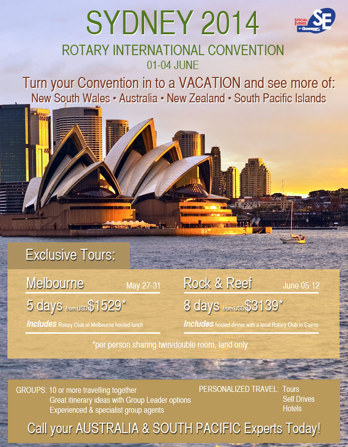 Sydney 2014- Rotary Convention - Turn your Convention into a Vacation!